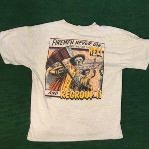 Badass Vintage 90s Firefighter t shirt
